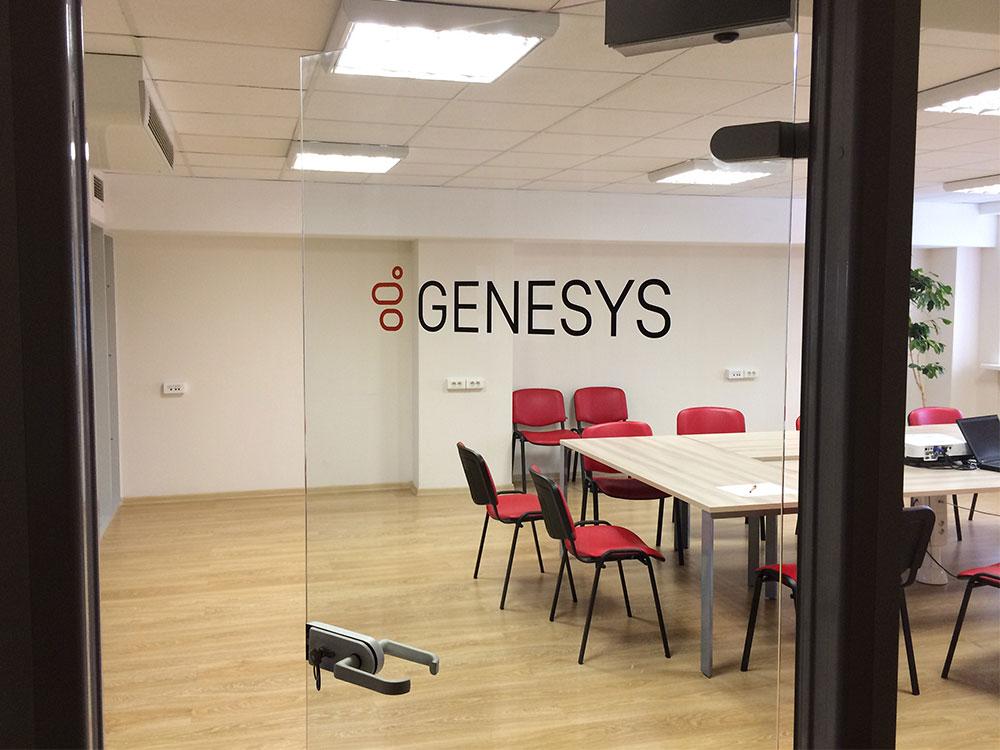Интерьерные вывески «Genesys»